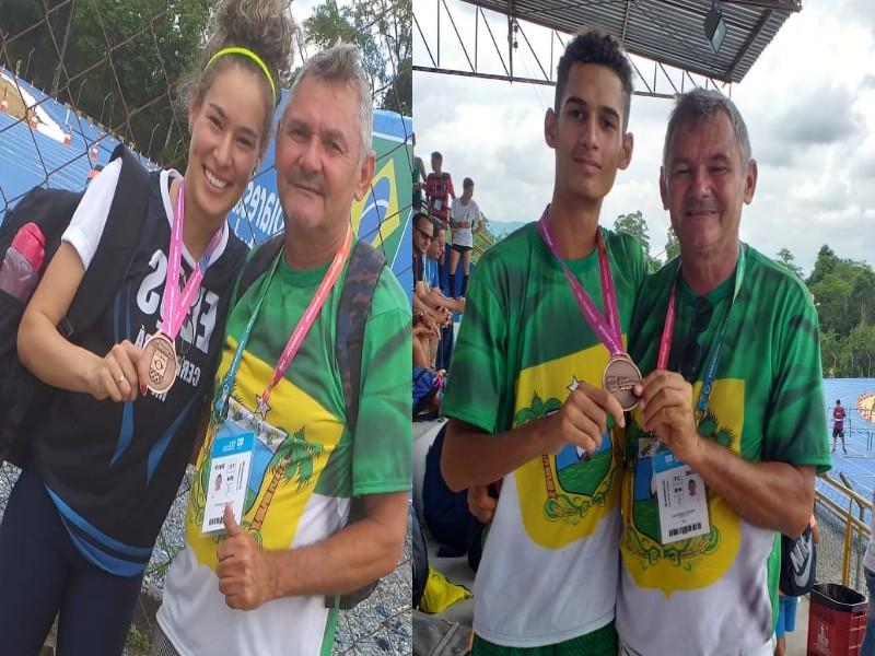 Regiclécia Silva e Wesley Mesquita bronzes nos jogos da juventude do Brasil em Blumenau SC(Vídeo)