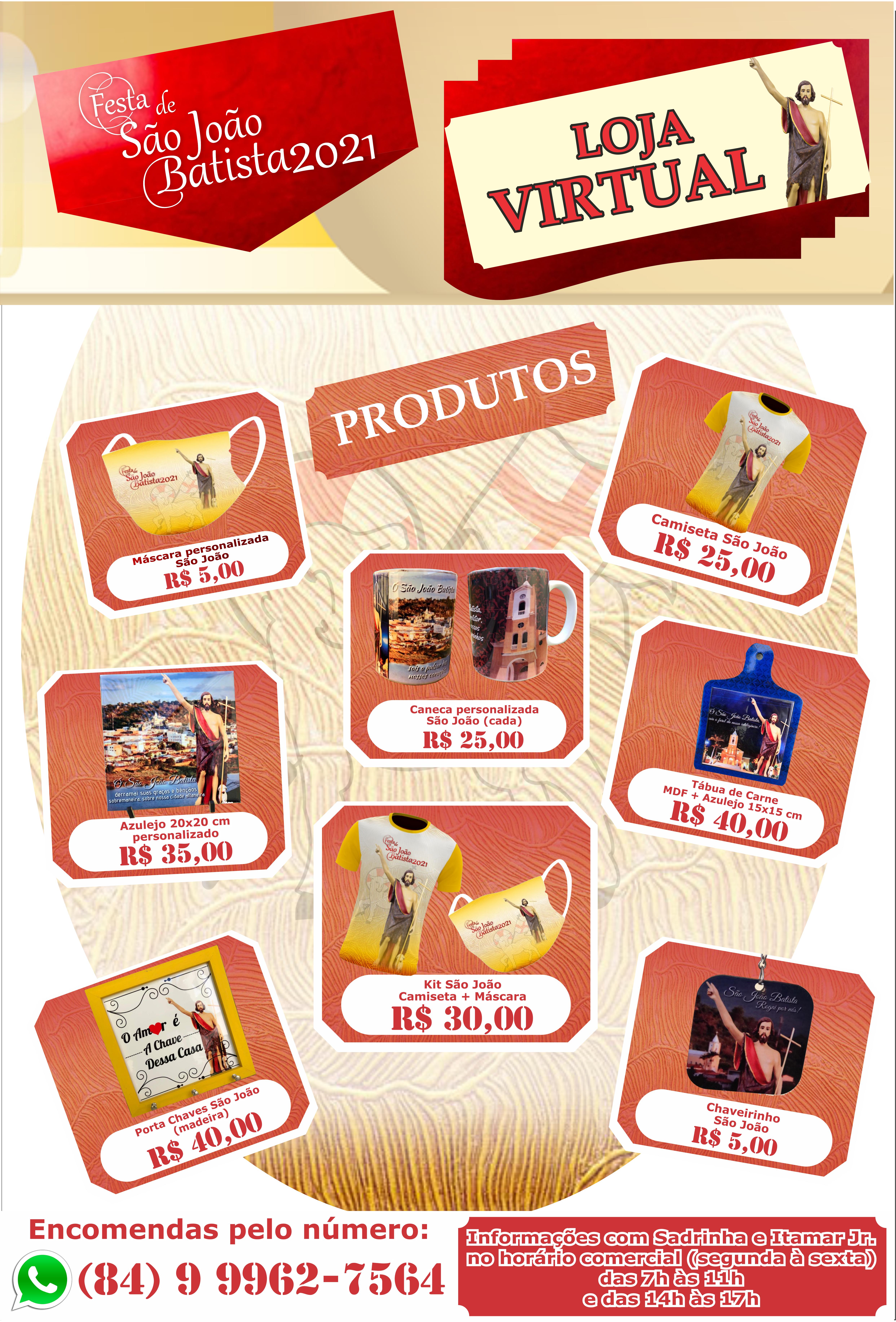 Paroquia de São João Batista cria sua Loja Virtual,conheça e adquira os produtos