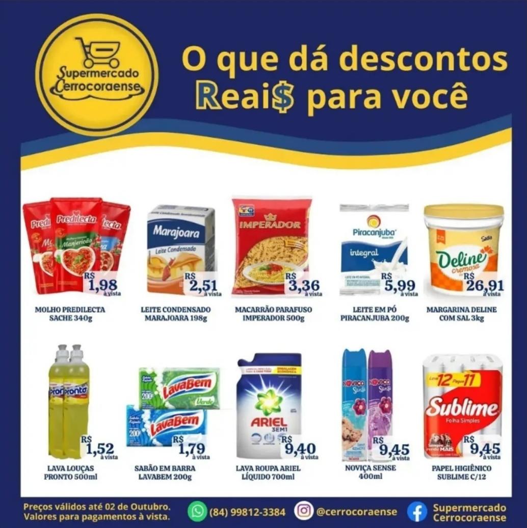 Ofertas da semana no Supermercado Cerrocoraense