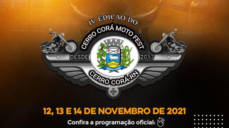 PROGRAMAÇÃO OFICIAL 4° CERRO CORÁ MOTO FEST 2021 (CONFIRAM AQUI)