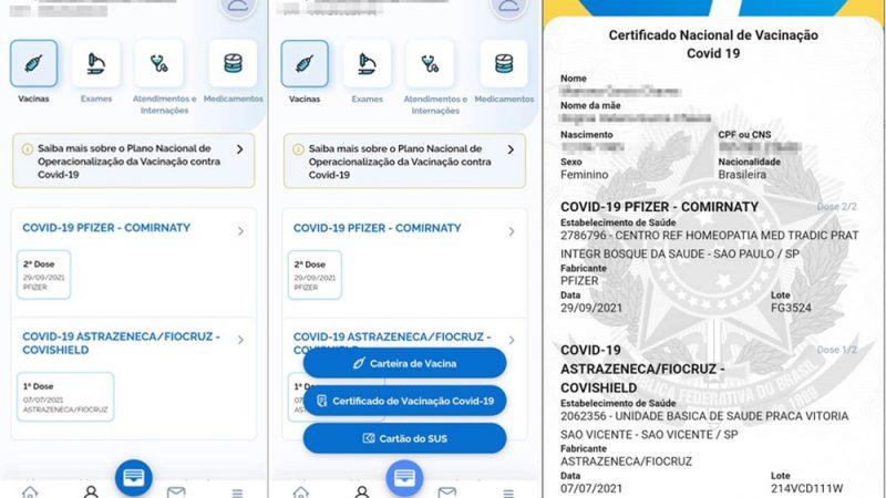 Conecte SUS libera emissão do certificado de vacinação para quem tomou mix de vacinas contra Covid